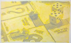 Sans Titre - 2016 - 24 x 32 cm - acrilyque sur papier et clous