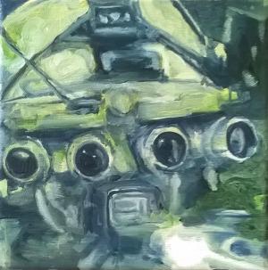 l'Araignée - 2016 - 24 x 24 cm - huile sur toile