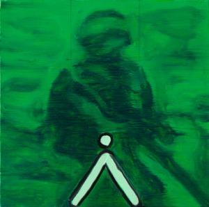 Night Vision (Mire) - 2016 - 30 x 30 cm - huile sur toile