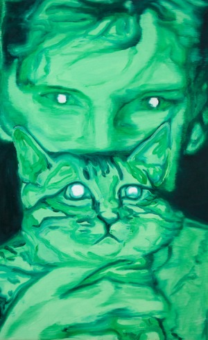 night vision - 73 x 46,5 - 2017 - huile sur toile