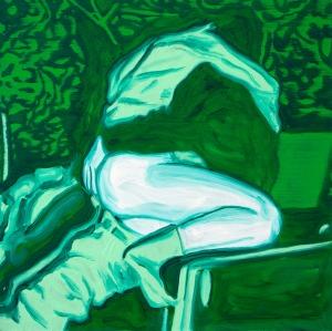 Night Vision (Voyeurisme 1) - 2016 - 50 x 50 cm - huile sur toile