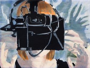 Virtual Reality 6 - 2015 - 18 x 24 cm - huile sur toile