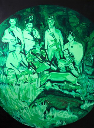 Night Vision (Chasseur 1) - 2016 - 175 x 129 cm - huile sur toile