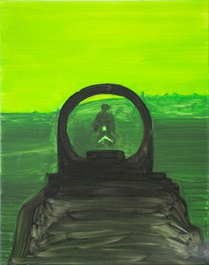 Night Vision (First Person Shooter) - 2016 - 50 x 30 cm - huile sur toile