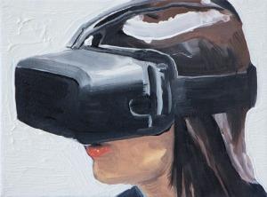 Virtual Reality 5 - 2015 - 18 x 24 cm - huile sur toile