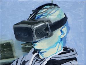 Virtual Reality 4 - 2015 - 18 x 24 cm - huile sur toile