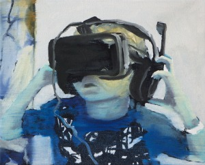 Virtual Reality 2 - 2015 - 24 x 30 cm - huile sur toile
